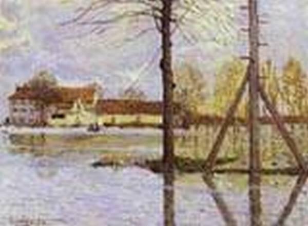 ferry to the ile de la loge flood 1872 XX ny carlsberg glyptotek copenhagen denmark